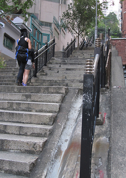 Stairs that were supposed to lead to Cat Street